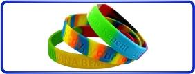 Bracelets en silicone personnalisé, bracelets en silicone dé-bossé, bracelets pour levée de fonds, bracelets promotionnels