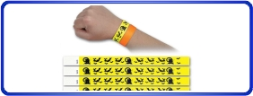 Bracelets en Tyvek personnalisé, bracelets d'événement